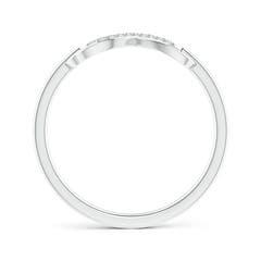 Toggle Twin-Row Diamond Swirl Infinity Link Ring