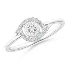 Miracle Solitaire Diamond Bypass Ring