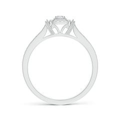 Toggle Cushion Halo Diamond Milgrain Collar Ring