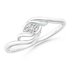 Solitaire Round Diamond Twin Bypass Ring