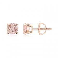 Angara Morganite and Diamond XO Stud Earrings JviXfnT