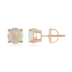 Basket-Set Round Opal Studs