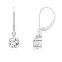 Angara Solitaire Diamond Intertwining Infinity Knot Earrings