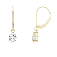 Solitaire Diamond Dangle Earrings