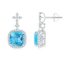 Angara Pear and Marquise Swiss Blue Topaz Grapevine Earrings tfYLXgZw