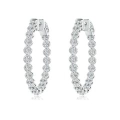Angara Floating Diamond Inside Out Hoop Earrings in Rose Gold oZoqfMerb