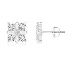 Prong-Set Diamond Floral Earrings