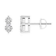 Classic Two Stone Diamond Earrings