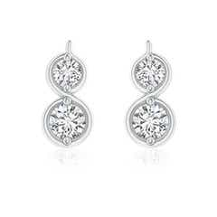Two Stone Diamond Infinity Earrings
