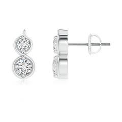 Toggle Two Stone Diamond Infinity Earrings