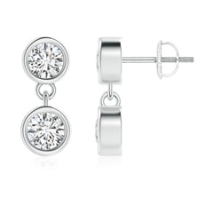 Dangling Two Stone Diamond Earrings