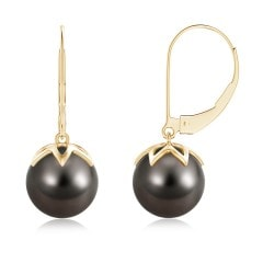 Tahitian Cultured Pearl Leverback Drop Earrings