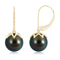 Angara Tahitian Cultured Pearl Long Drop Earrings with Diamonds gV0btq2