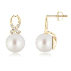 South Sea Cultured Pearl Ribbon Earrings