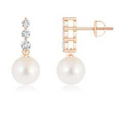 Angara Freshwater Cultured Pearl Earrings with Bezel Garnet twWuTw