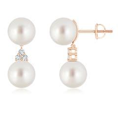 Angara South Sea Cultured Pearl Dangle Earrings with Bezel Diamonds acE4m2n