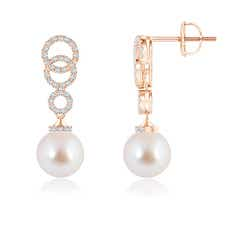 Angara Akoya Cultured Pearl Swirl Leverback Earrings RupGUxOzO