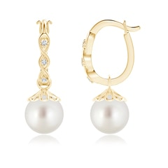 South Sea Cultured Pearl Infinity Hinged Clip Earrings