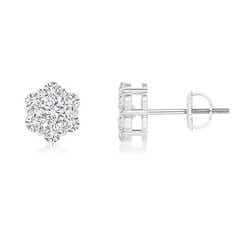 Pressure-Set Diamond Cluster Stud Earrings