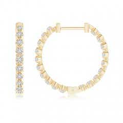 Toggle Floating Diamond Inside-Out Hoop Earrings