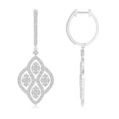 Floating Cluster Diamond Chandelier Earrings