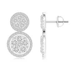 Angara Two-Tier Diamond Cluster Halo Stud Earrings fbrKtyD