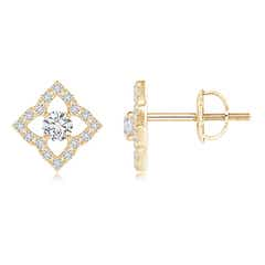 Angara Marquise Diamond Clover Halo Stud Earrings Su0hK