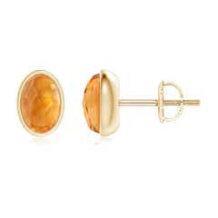 Angara Solitaire Square Citrine Clover Earrings 6UQv3qzK