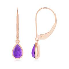 Angara Pear and Marquise Amethyst Grapevine Earrings IdlyODH7