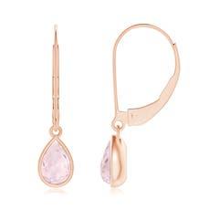 Pear-Shaped Morganite Solitaire Drop Earrings