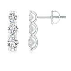 Bar-Set Diamond Journey Earrings