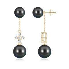 Angara Intertwined Heart Tahitian Cultured Pearl Drop Earrings I1kfivv8