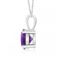 Toggle Classic Round Amethyst Solitaire Pendant