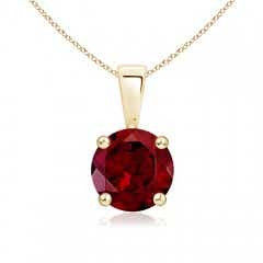 Angara Trillion Garnet Solitaire Pendant with Diamond Swirl lWkpv