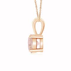 Toggle Classic Round Morganite Solitaire Pendant