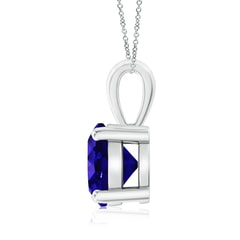 Toggle Classic Round Tanzanite Solitaire Pendant