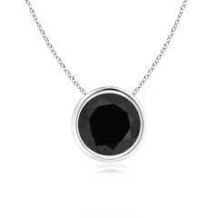 Angara Natural Black Onyx Necklace in Platinum E53ZBl4
