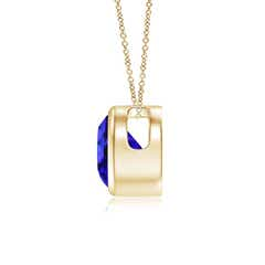 Toggle Bezel-Set Round Tanzanite Solitaire Pendant
