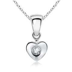 Diamond Heart-Shaped Pendant for Baby