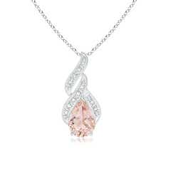 Solitaire Pear-Shaped Morganite Flame Pendant