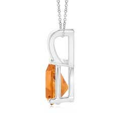 Toggle V-Bale Pear-Shaped Citrine Solitaire Pendant