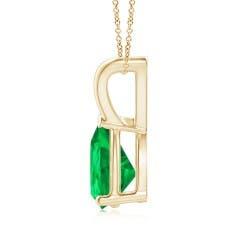 Toggle V-Bale Pear-Shaped Emerald Solitaire Pendant