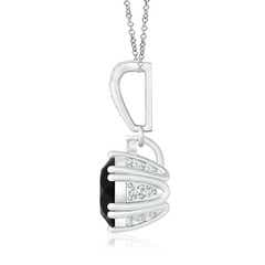 Toggle Round Black Onyx Pendant with Diamonds