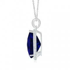 Toggle Vintage Style GIA Certified Sapphire Teardrop Pendant