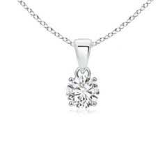 Classic Round Diamond Solitaire Pendant Necklace