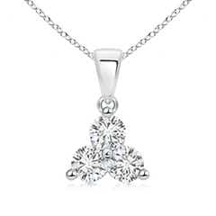 Round Diamond Three Stone Pendant