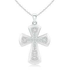 Pave-Set Diamond Cross Pendant