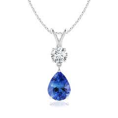 Pear-Shaped Tanzanite V-Bale Pendant