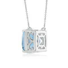 Toggle Classic Cushion Aquamarine Solitaire Pendant