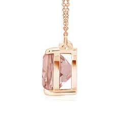 Toggle Classic Cushion Morganite Solitaire Pendant